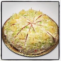 pastel de jamón dulce y queso