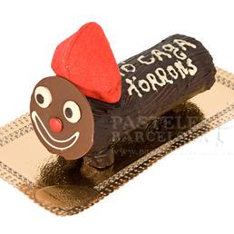 pastel de navidad Caga tió  chocolate catering bcn