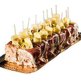 Pastel salado de jamón catering Barcelona