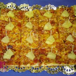 pizza de jamón dulce