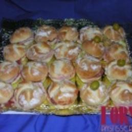 Surtido de bocadillos pan de viena