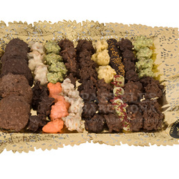 rocas de chocolate petit fours