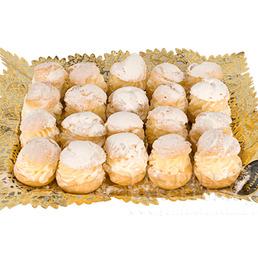 Lionesas Nata, trufa y crema pastelería catering
