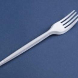 tenedor plástico