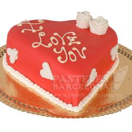 Pastel romántico dile que le quieres con un pastel