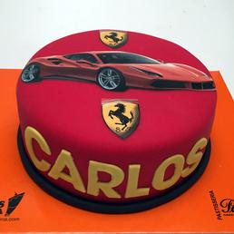 Pastel Foto Coche Ferrari