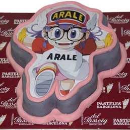 Pastel Forma de dibujo animado Arale
