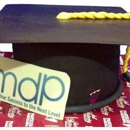 Pastel Forma de sombrero graduación