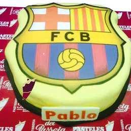 Pastel escudo Barça. FC Barcelona