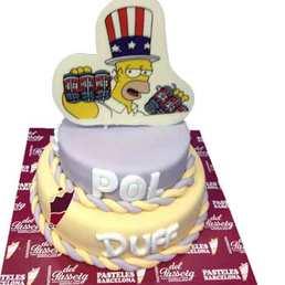 Pastel de pasta americana Homer Simson