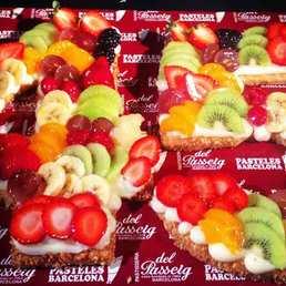 Pastel numero 45 hojaldre con fruta