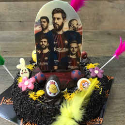 pastel mona jugadores barça