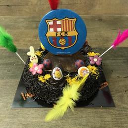 pastel mona escudo fc barcelona