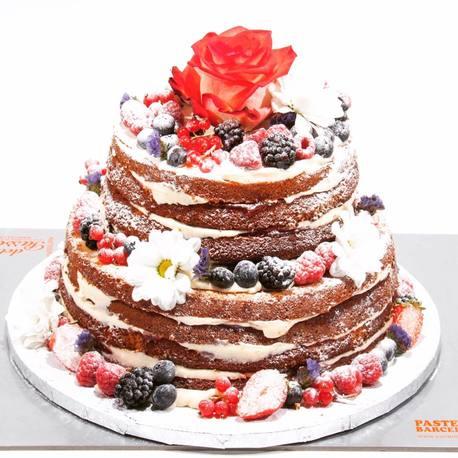 Big naked cake