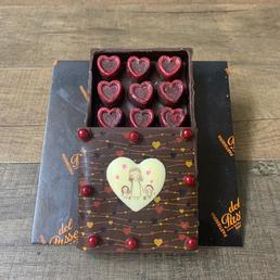 pasteles barcelo,a comprar, doimicilio, badalona, hospitalet,Bolso de chocolate Caja de chcolate rellena de bombones de chcoate