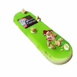 Turrón de pistachos y yuzu