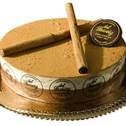 Biscuit glasé con mousse chocolate pastelería