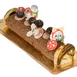 pastel navidad tronco navideño catering barcelona