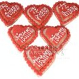 Galletas forma de corazón, galetes cor