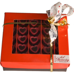 Caja de bombones forma de corazón
