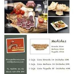 Pan de coca para hostelería,restaurantes.