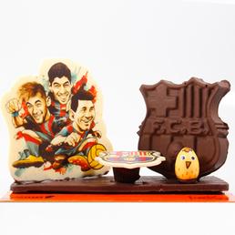 Escudo de chocolate para regalar