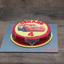 pastel cars rayo macquin, tomate