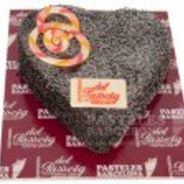 Pastel forma de corazón pastis cor