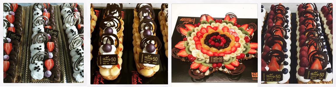 pasteles con fruta